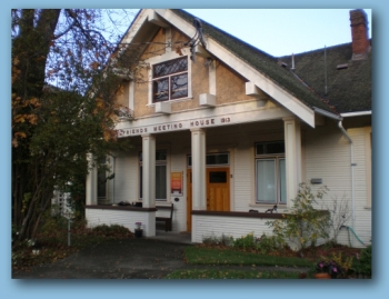 The Friends Meeting House in Victoria, BC. The Quaker community is celebrating the 100th anniversary of their meeting house in 2013. (photo credit: Vancouver Island MM)