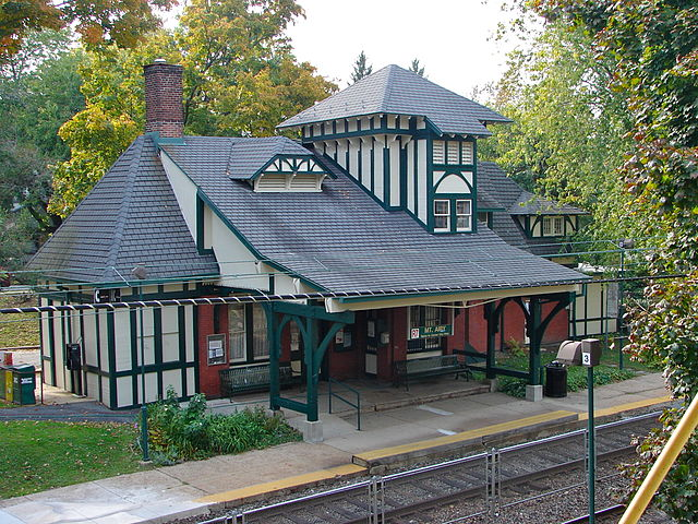 Mt Airy Station, Pennsylvania (photo credit: Smallbones/Wikipedia Commons)