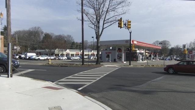 Street scene along Providence Road in Media, PA