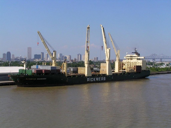 MV Rickmers Shanghai in port (photo credit: Captain Peter)