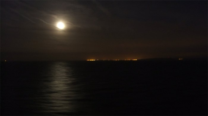 Fullmoon over Calais, France