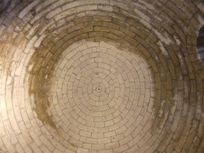 The simplicity of Romanesque architecture: Form is function. The ceiling of a chapel in the Sint-Maartenskirk in Sint-Truiden.