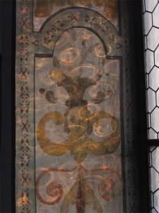 Das Zusammenspiel von Kunst und kunstvollen Lichteinfall in der Kirche von Werthenstein - The interplay of a 17th century fresco and reflections of the evening light in the church of Werthenstein.