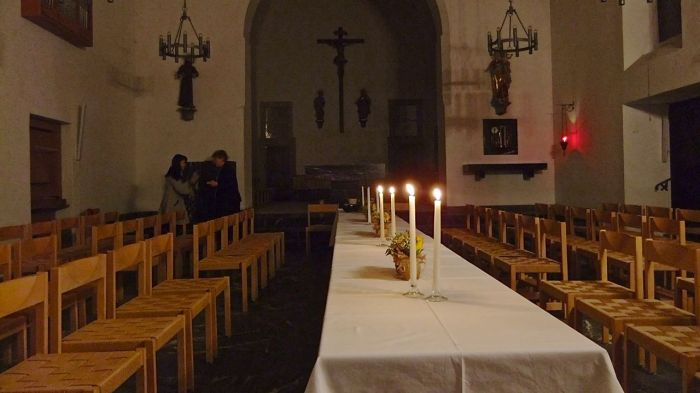 The Last Supper celebration at the Capuchin friary in Rapperswil. Das Abendmahlsfest in der Kapuzinerkirche in Rapperswil
