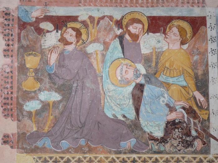 Passionszyklus (Garten Gethsemane), Kirche Tenna, GR, um 1408, unbekannter Künstler