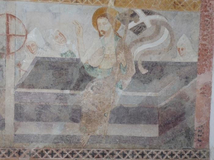 Passionszyklus (Auferstehung), Kirche Tenna, GR, um 1408, unbekannter Künstler