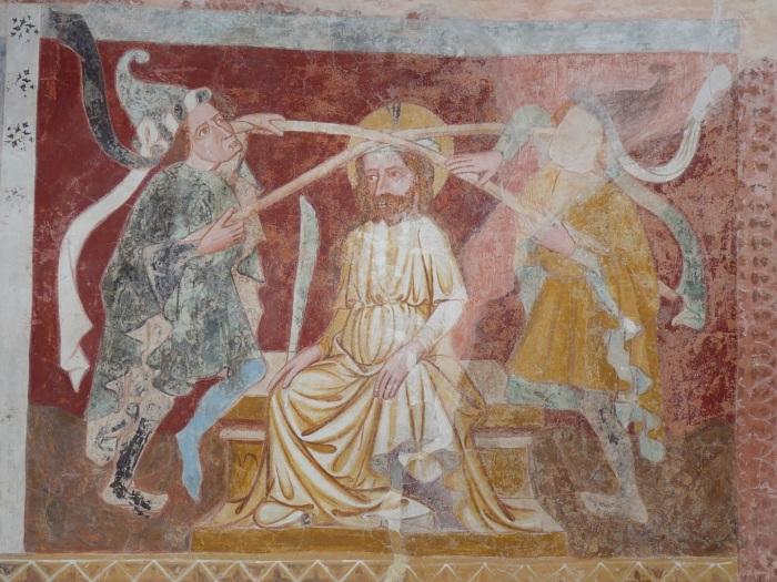 Passionszyklus (Dornenkrönung), Kirche Tenna, GR, um 1408, unbekannter Künstler