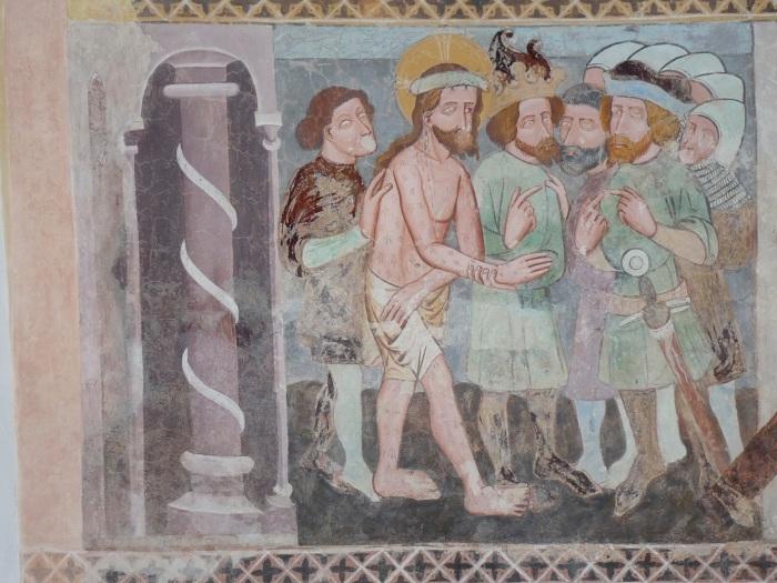 Passionszyklus (vor Pontius Pilatus), Kirche Tenna, GR, um 1408, unbekannter Künstler