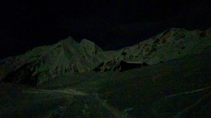 Night scenery with plenty of moon light
