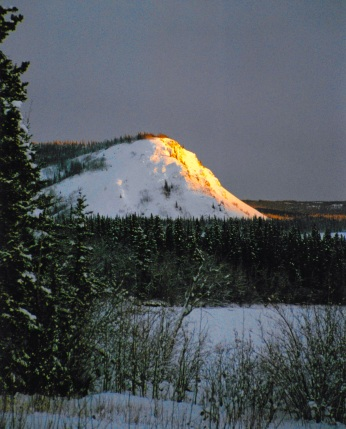 Tantalus Butte glowing