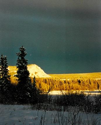 Tantalus Butte in bright light
